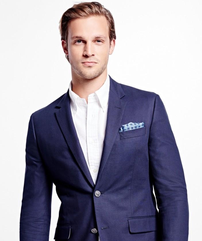 best-brooks-brothers-blue-cotton-light-mens-blazer-2016 ...