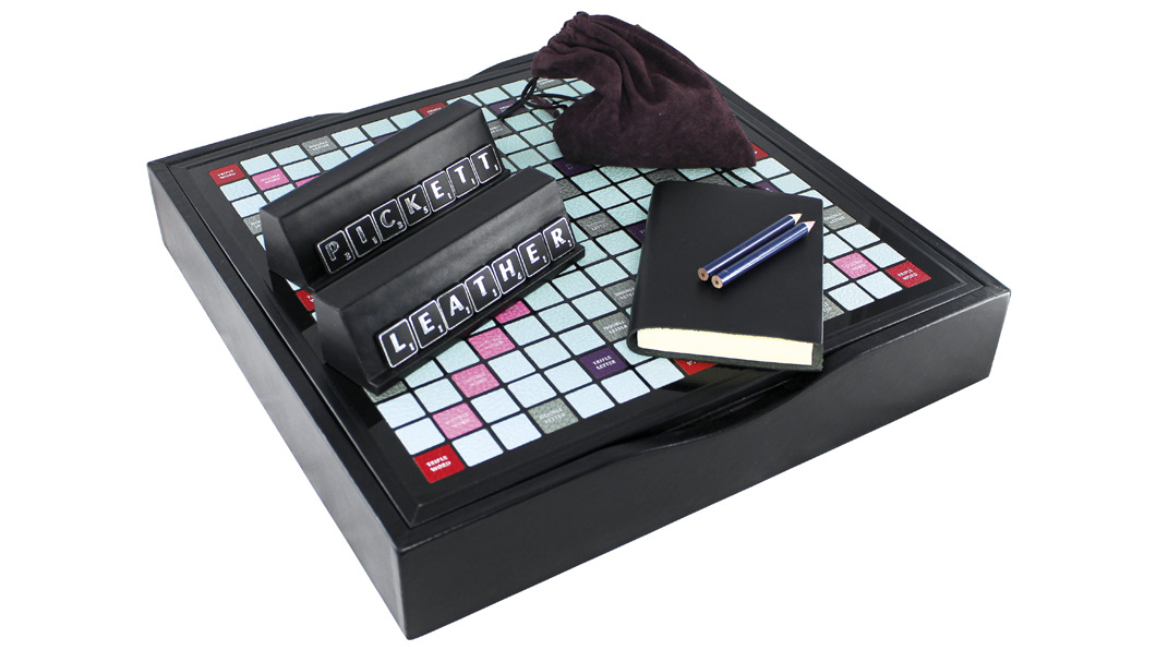 Pickett has created luxury versions of Scrabble